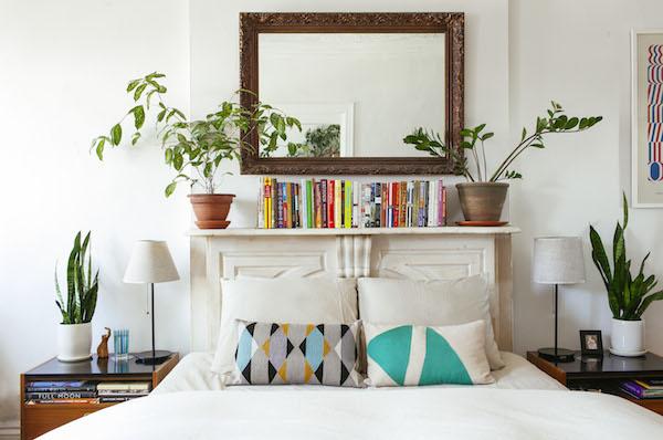 Đặt cây xanh trong phòng ngủ