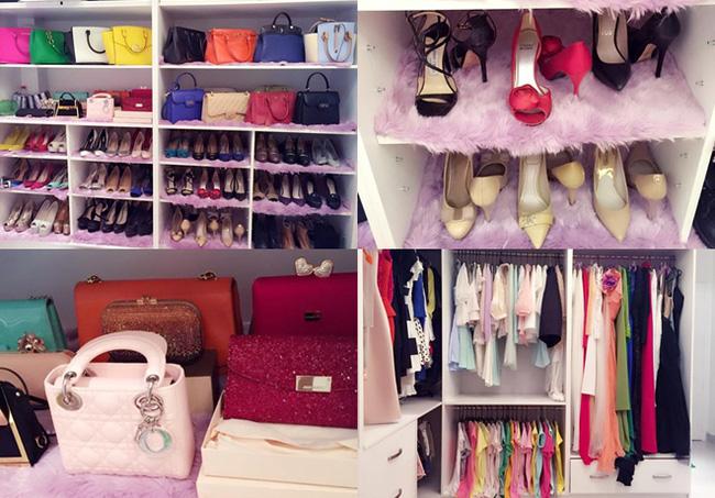 Cô nàng sở hữu nhiều món hàng đáng mơ ước