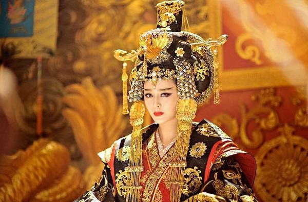 Hình ảnh Võ Tắc Thiên trên phim.