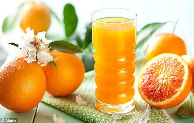 Uống nước cam tốt cho sức khỏe