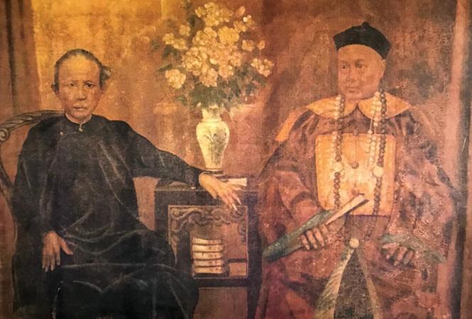 Ông Lý Tường Quang và vợ cả Nguyễn Thị Lâu (ảnh chụp từ tư liệu gia đình).