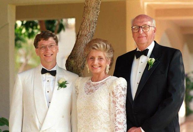 Bill Gates và cha mẹ.