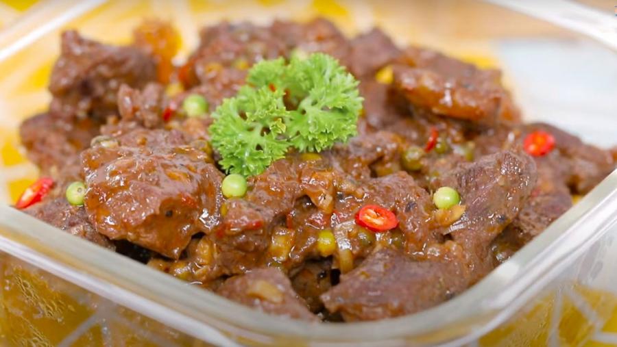 Món thịt bò xào gừng sả thơm ngon
