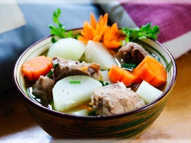 Món canh củ cải trắng hút sạch độc tố trong cơ thể bạn