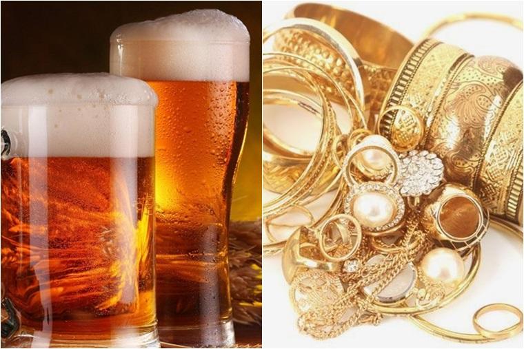 Bia giúp giữ cho đồ kim loại sáng bóng