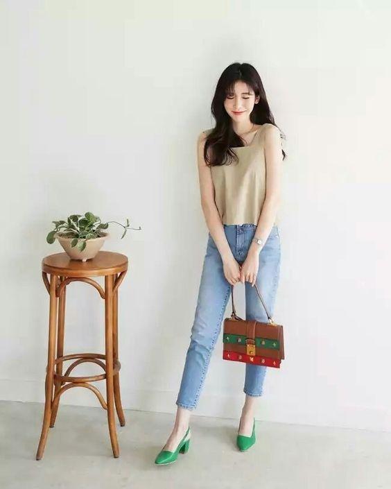 Học gái Hàn mix đồ với màu pastel mát mẻ cho ngày Hè thêm xinh