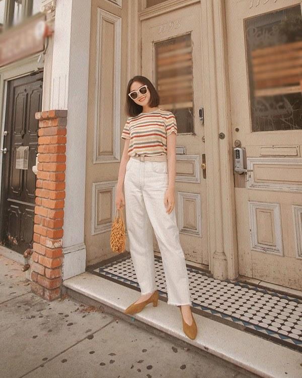 Bật mí cách diện quần trắng tôn dáng dễ phối đồ lại chuẩn xinh