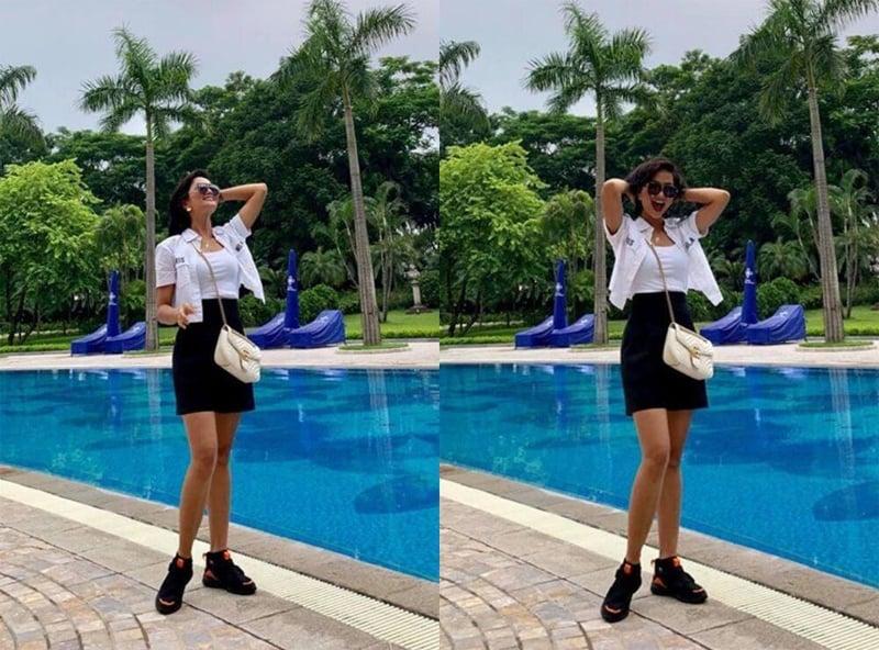 Mỹ nhân Việt dùng túi hiệu như phá: Ngọc Trinh dùng che mưa, H'Hen Niê đựng hoa quả