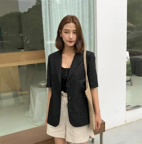 Những cách phối đồ chuẩn áo blazer ngắn tay diện vừa mát mẻ vừa chuẩn phong cách