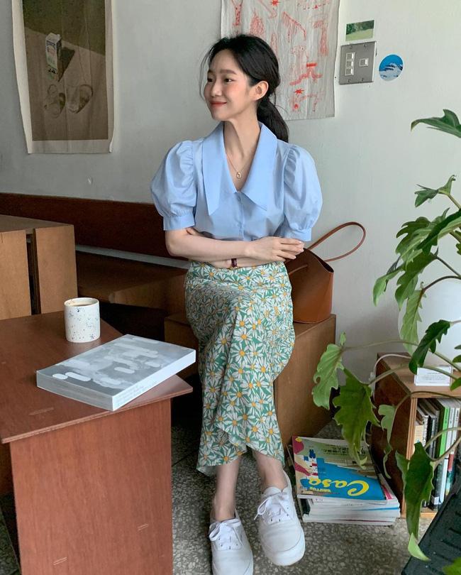 Học ngay 12 cách diện chân váy dài vừa đẹp vừa chuẩn sang của gái Hàn