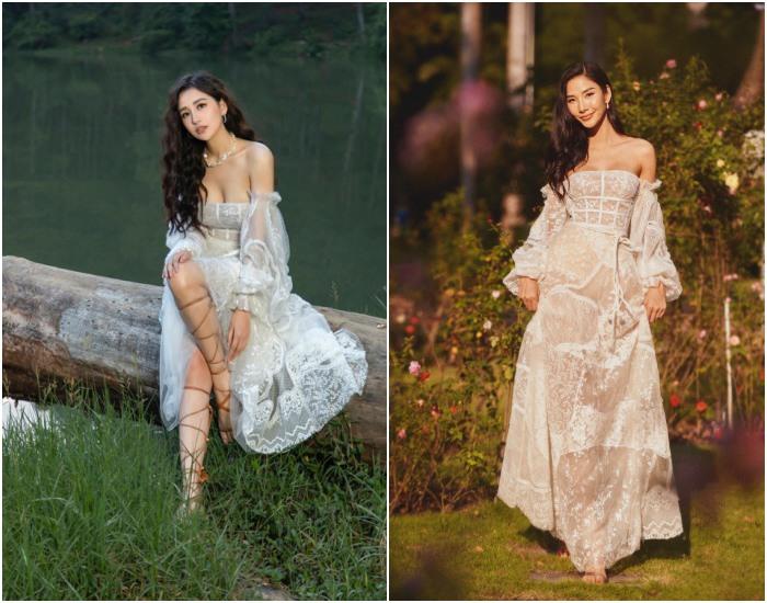 Mai Phương Thúy tiếp tục chứng minh đẳng cấp khi diện đầm váy đụng hàng với đàn em