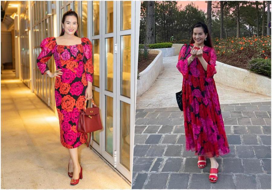 """""""Đụng hàng"""" váy hoa với mẹ bỉm Bảo Thanh, bà xã Bình Minh hơn cả chục tuổi vẫn trẻ trung vô cùng"""