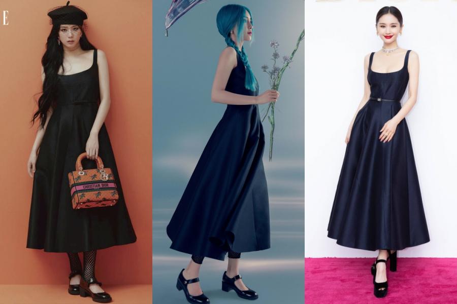 Cùng diện một mẫu váy, Jisoo - Angela Baby - Vương Tử Văn cạnh tranh nhan sắc khốc liệt