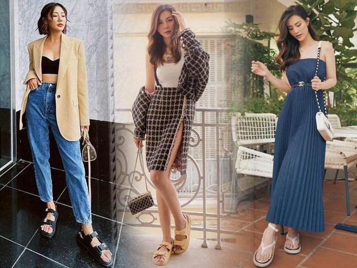 3 kiểu giày dép thanh lịch, trẻ trung dành cho chị em thoải mái mix đồ ngày hè