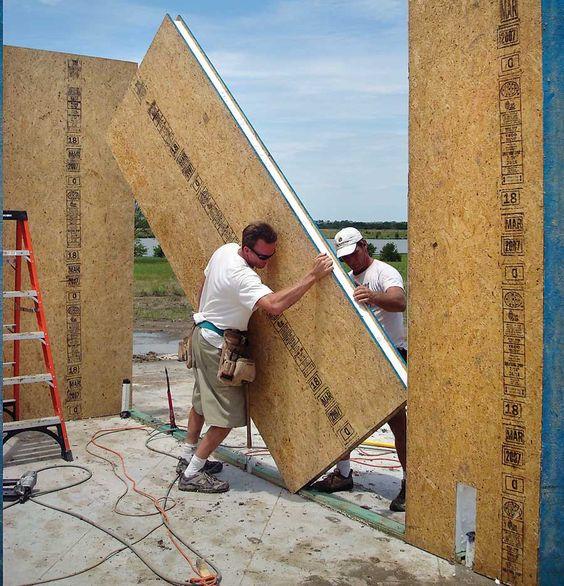 Một loại tường hai lớp được sử dụng để xây nhà.