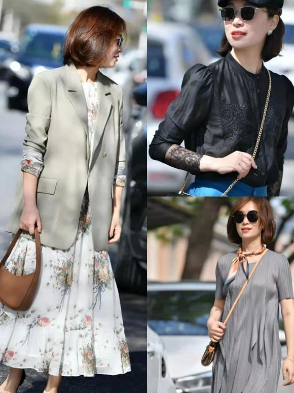 Khi mặc suit hoặc áo sơ mi, mix cùng một chiếc váy hoặc chân váy để bộ trang phục bắt mắt hơn.
