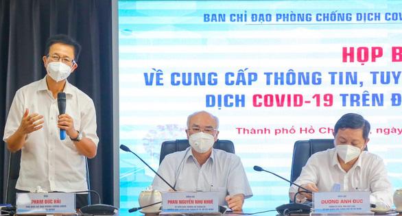 TP.HCM tổ chức họp báo thông tin về các giải pháp phòng chống dịch nâng cao từ ngày 23/8  (Ảnh: Tuổi Trẻ)