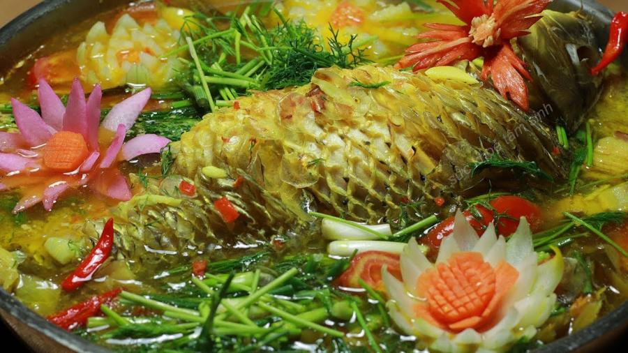 Món cá chép om dưa thơm ngon