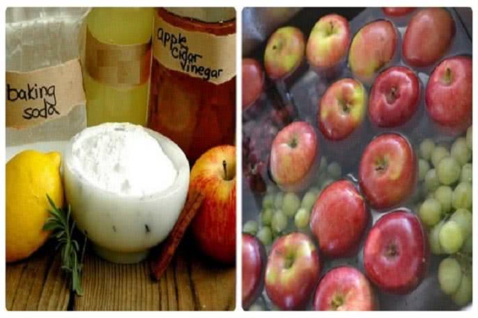 Cách rửa sạch hóa chất trên hoa quả