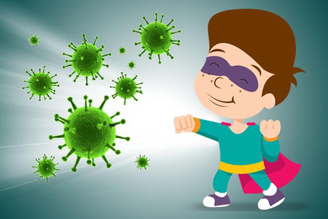 Tăng đề kháng giúp trẻ khỏe mạnh, ít ốm vặt