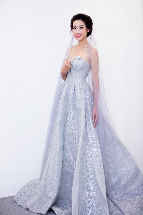 Hoa hậu Mỹ Linh diện váy cưới đẹp lộng lẫy 1
