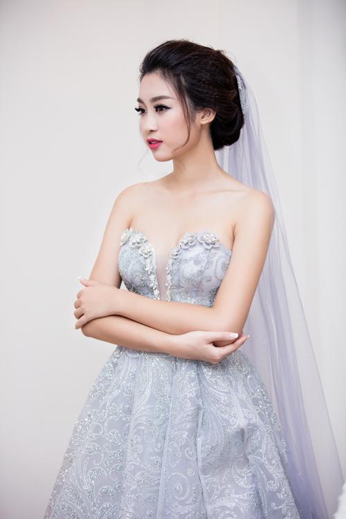 Hoa hậu Mỹ Linh diện váy cưới đẹp lộng lẫy 2