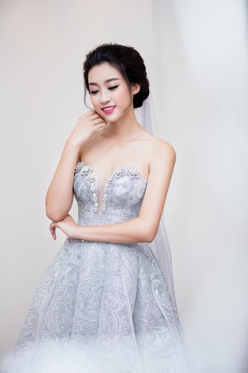 Hoa hậu Mỹ Linh diện váy cưới đẹp lộng lẫy 3