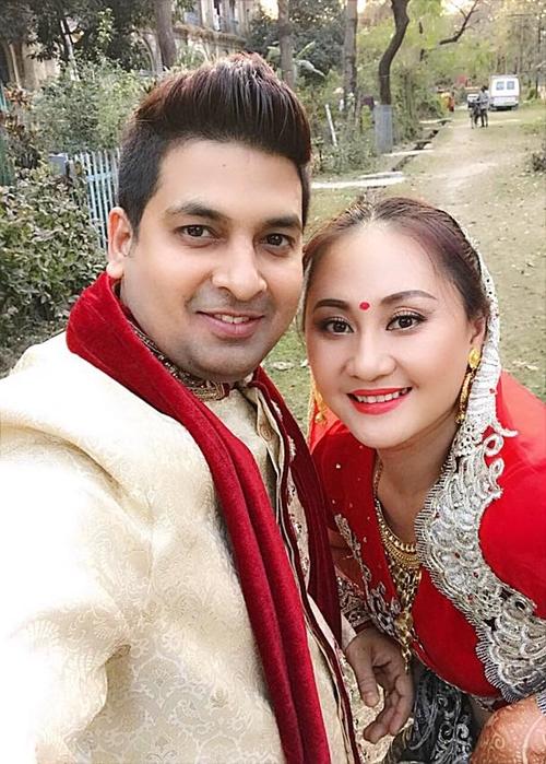 Diễn viên Ngọc Xuân và chồng Ấn Độ