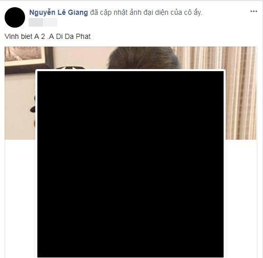 Mới đây nhất, nghệ sĩ Lê Giang đã treo avatar đen đượm buồn tang thương cùng lời chia sẻ: