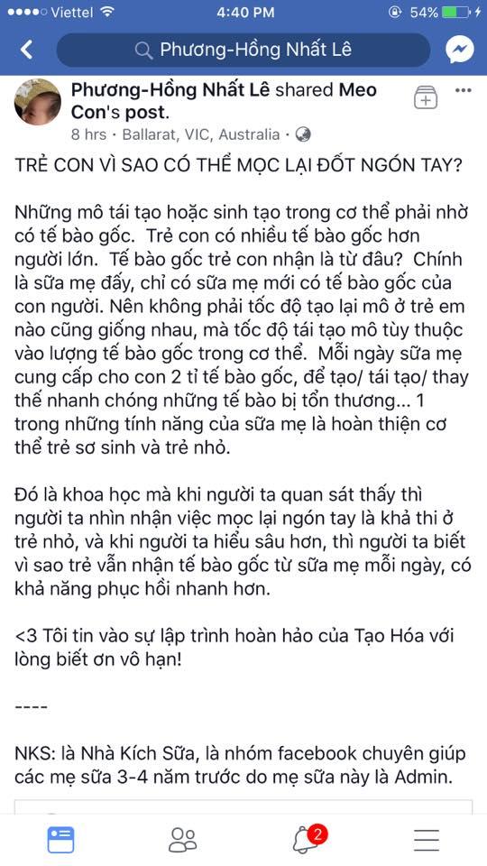 """Những """"triết lý"""" kỳ quặc của trường phái Thuận tự nhiên: Uống sữa mẹ có thể... mọc lại ngón tay"""