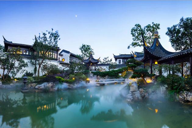 Căn nhà mang đậm phong cách kiến trúc dành riêng cho giới quý tộc Trung Hoa xưa.