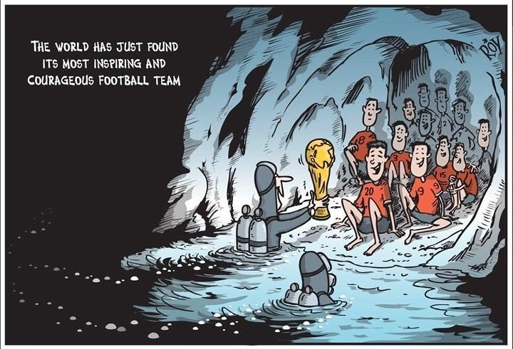 Chiến dịch giải cứu diễn ra ngay sát thời điểm chung kết World Cup 2018, FIFA đã hứa sẽ tặng cho cả đội bóng chuyến bay sang Nga để xem trận chung kết vào ngày 15/7. Nhưng có lẽ các em phải bỏ lỡ vì tình hình sức khỏe chưa ổn định