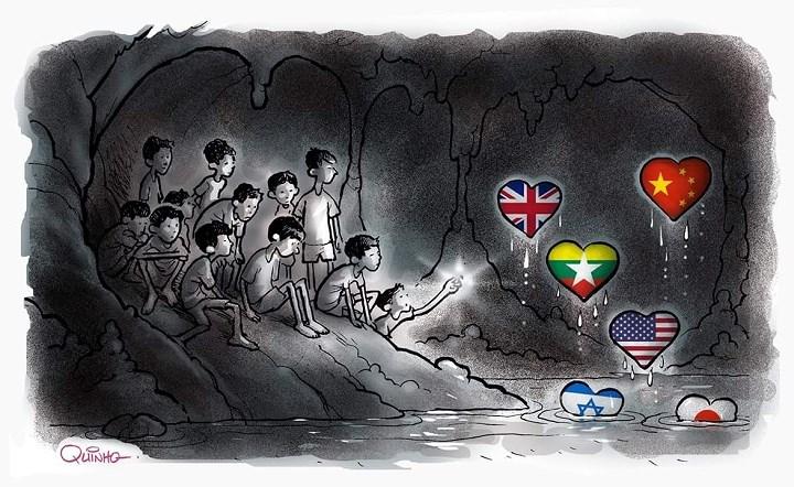 Đội cứu hộ tham gia chiến dịch gồm nhiều thợ lặn và thành viên đến từ nhiều nước