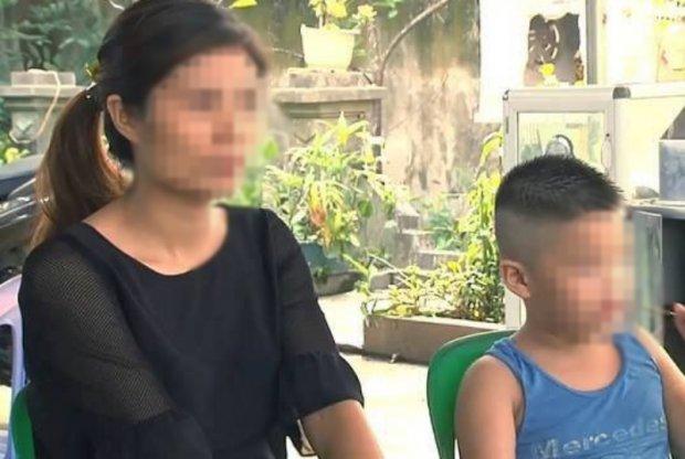 Chị Vũ Thị Hương và cháu M. vẫn còn khá sốc sau khi biết sự thật