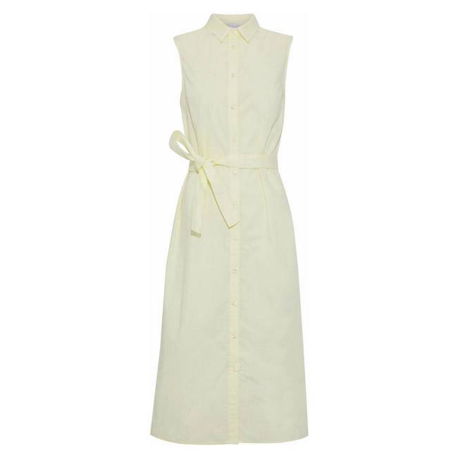 Váy sơ mi là lựa chọn rất thích hợp cho nàng công sở trong những ngày hè nóng nực. Kiểu áo trần tay lại càng mang đến sự khoan khoái