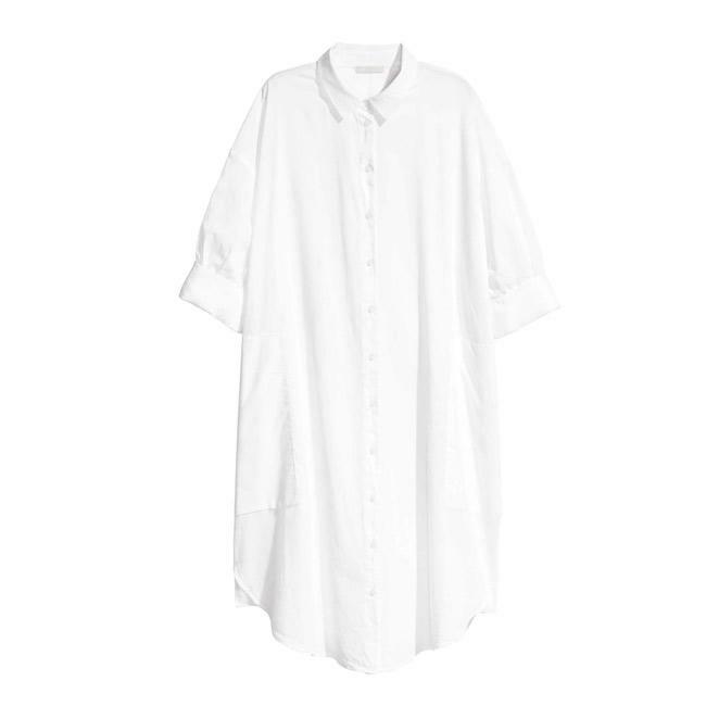 Váy sơ mi phom oversize mang đến sự thông thoáng tuyệt đối