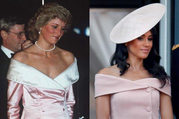 6. Chiếc áo choàng Công nương Diana diện năm 1987 khá giống với con dâu của mình trong thiết kế.