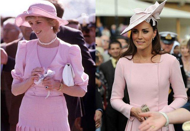 Cả hai vị Công nương Anh toát lên vẻ trẻ trung, nữ tính khi diện đồ màu hồng phấn.