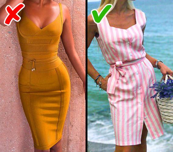 Những chiếc váy bó sexy cũng không còn hợp thời trang nữa. Bạn nên chọn những chiếc váy nữ tính với đai thắt eo.