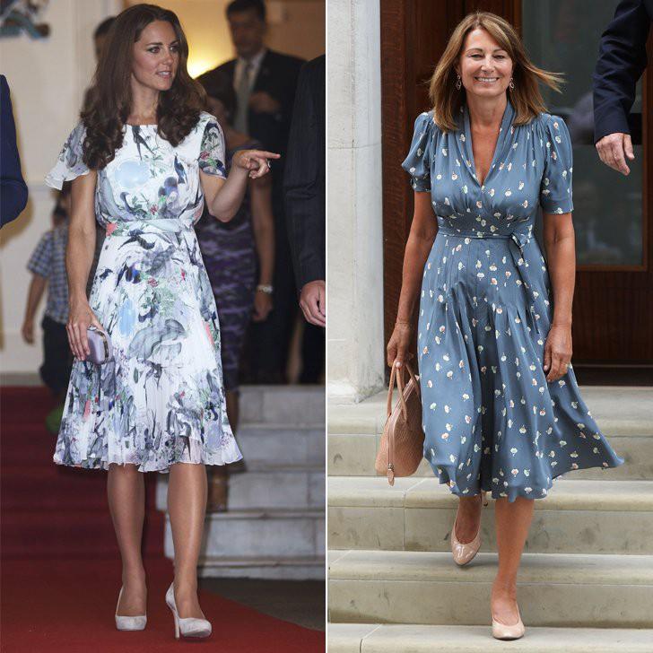 Không chỉ nhiều lần có chung ý tưởng với con gái khi chọn kiểu dáng và màu sắc váy áo, phụ kiện...