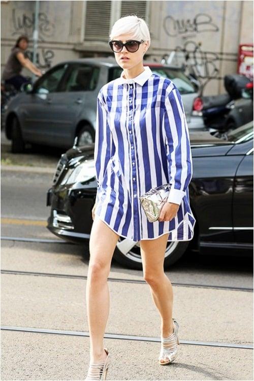 Với một fashionista thực thụ, những chiếc váy sơ mi thế này lại là lựa chọn tuyệt vời cho những dịp xuống phố