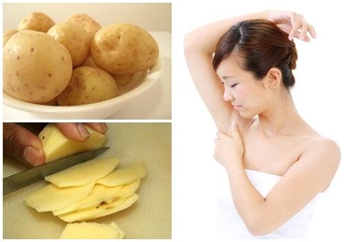 Trị nách thâm đen và hết hẳn mùi hôi sau vài phút nhờ sử dụng khoai tây đúng cách
