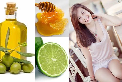 Cách dưỡng ẩm da mặt bằng dầu oliu, chanh và mật ong