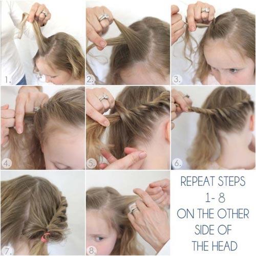 Mách mẹ cách tết tóc công chúa cho bé gái cực xinh