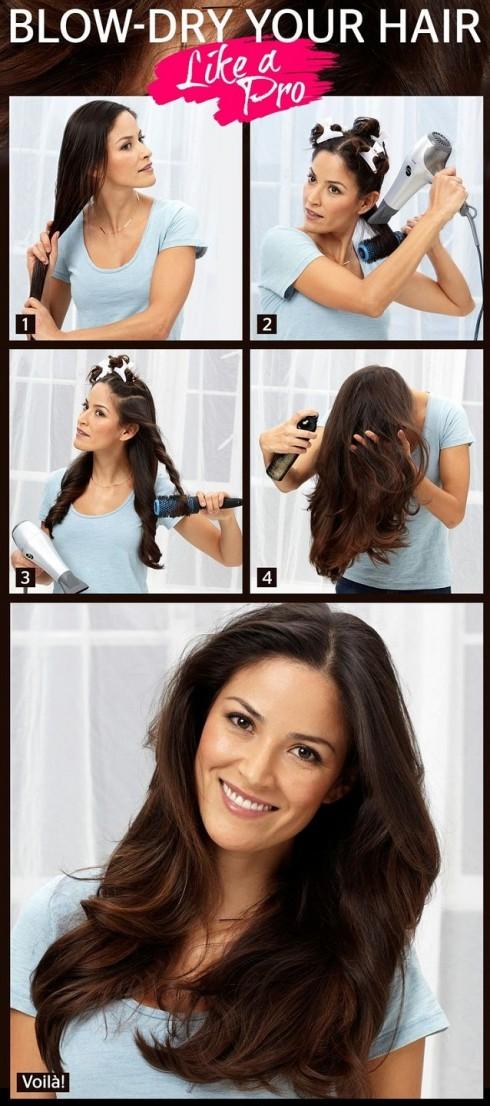 Cách làm tóc xoăn bằng lược tròn nhanh, dễ, đẹp mắt