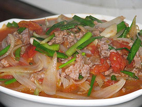 Thịt bò xào ngô bao tử và súp lơ xanh món hễ ăn là mê