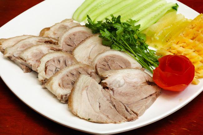 Thịt lợn luộc ngon