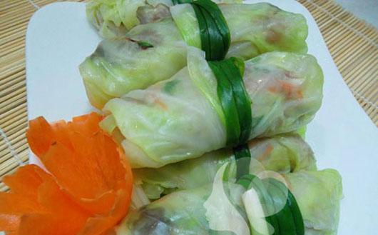 Bắp cải cuộn thịt hấp