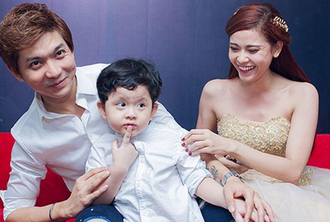 Gia đình nhỏ của Tim và Trương Quỳnh Anh lúc còn hạnh phúc.