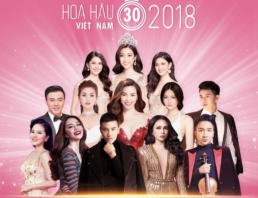 Dàn sao Việt sẽ có mặt trong đêm chung kết Hoa hậu Việt Nam 2018.